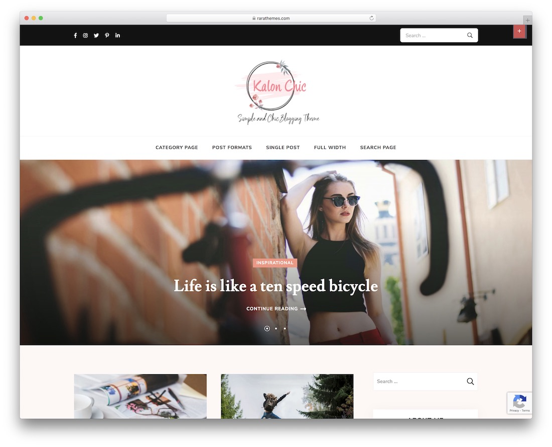 kalon chic free feminine wordpress theme