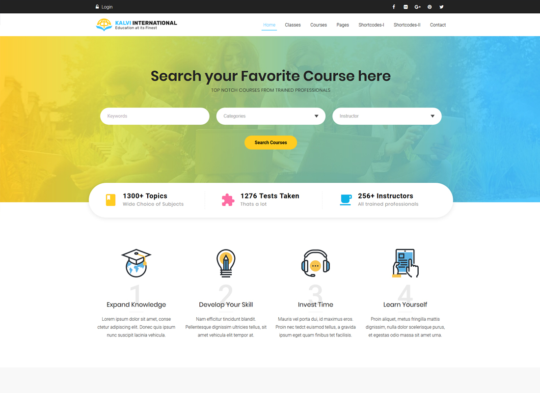 Kalvi Education | LMS Education WordPress Theme