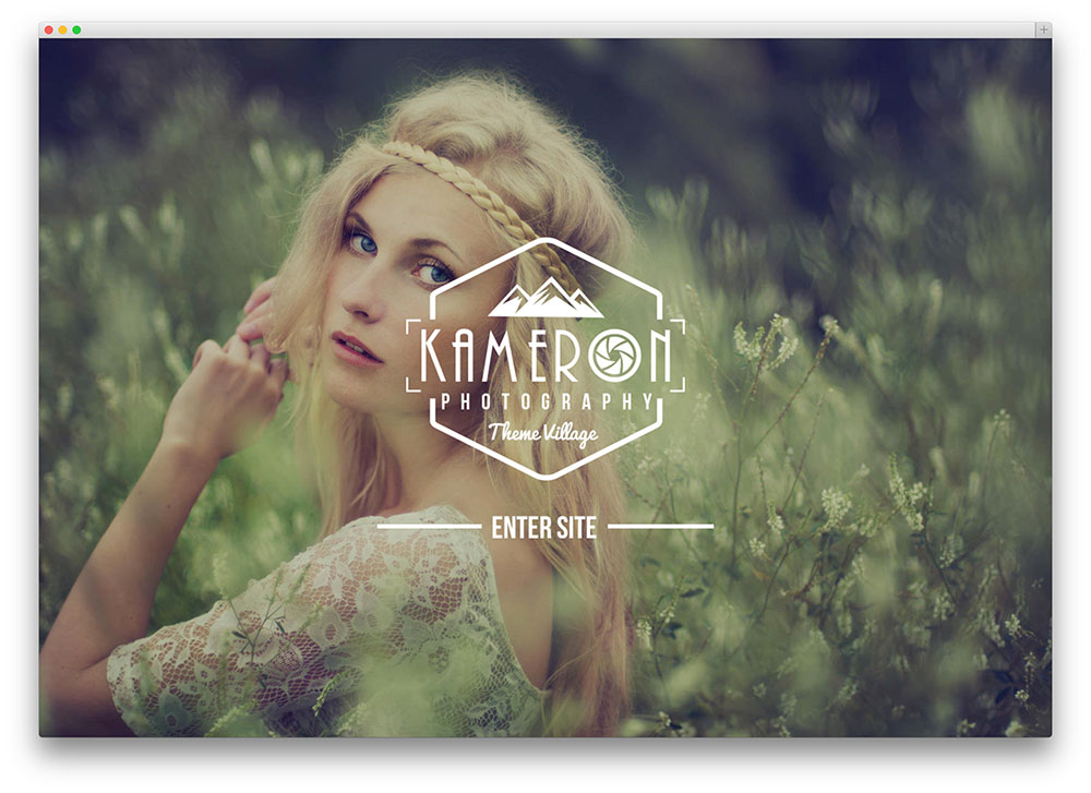 kameron clean photography theme