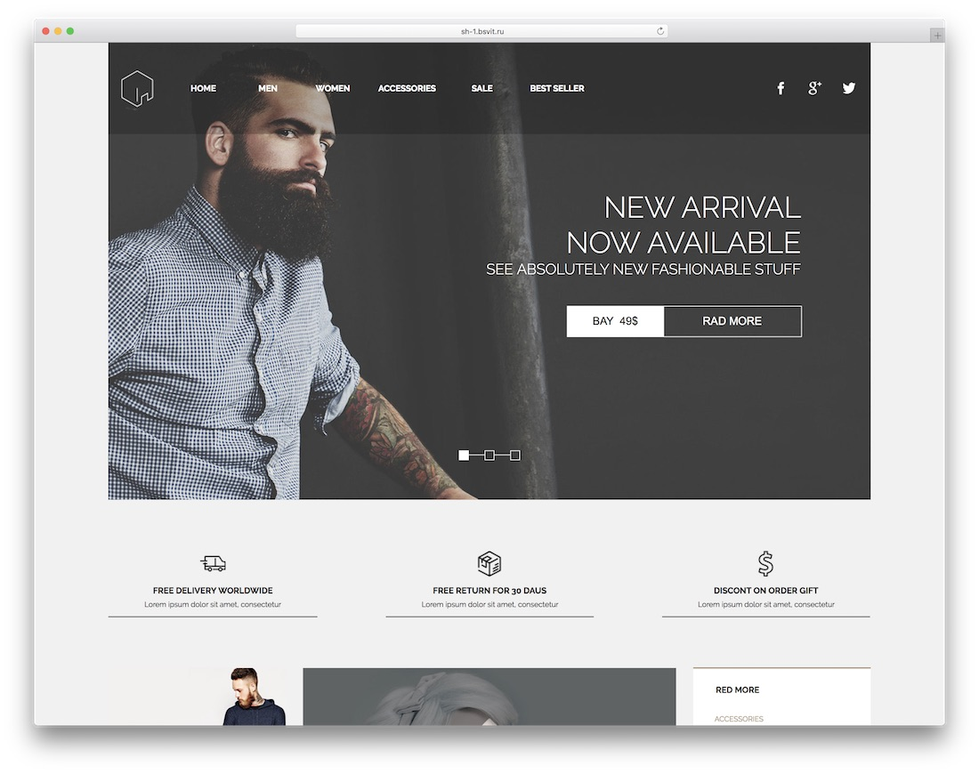 kamod ecommerce adobe muse template