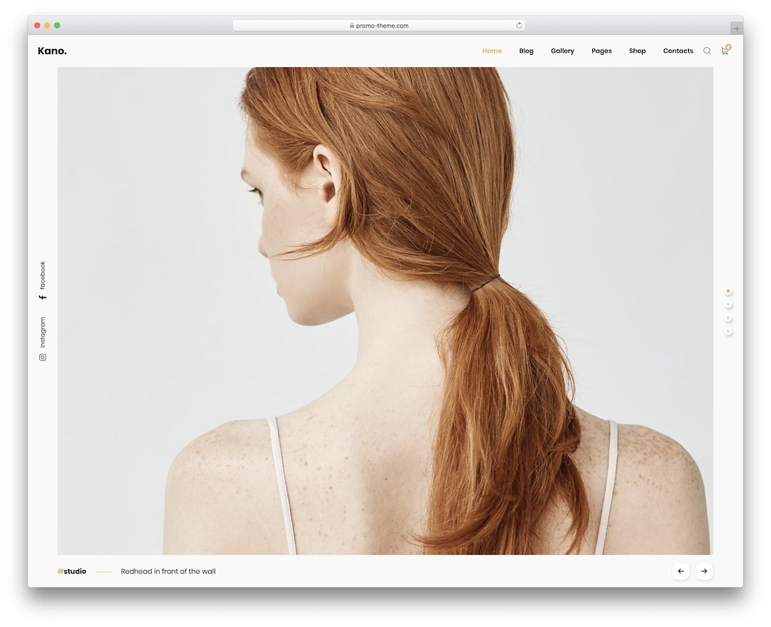 kano photo gallery website template