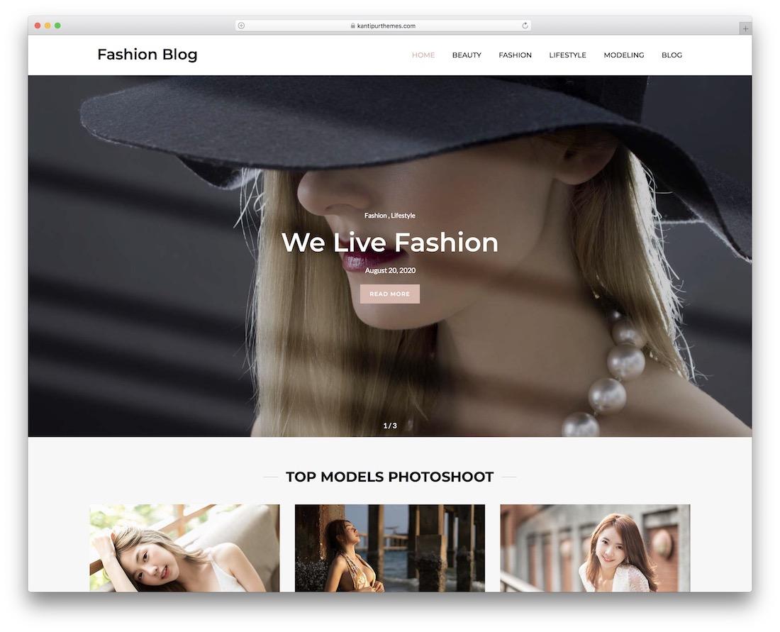 kantipur free fashion blog wordpress theme