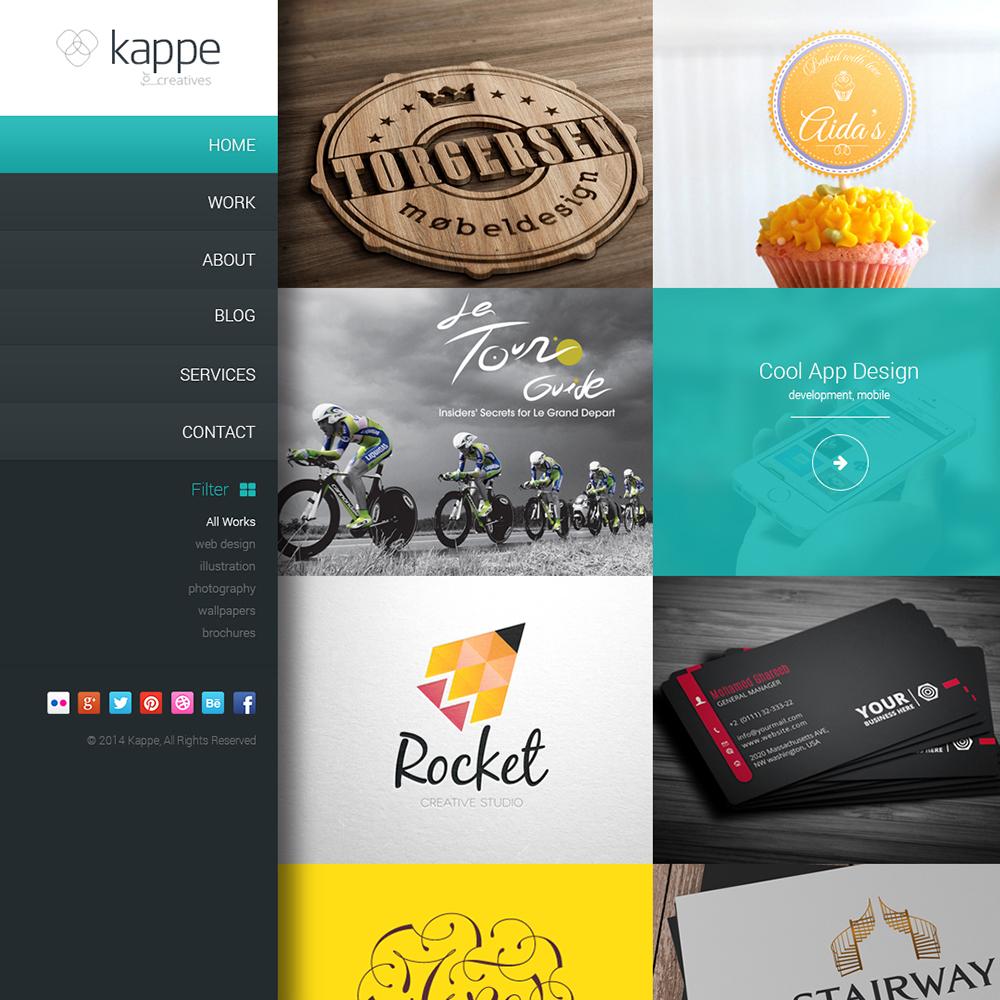 Kappe Free PSD Template