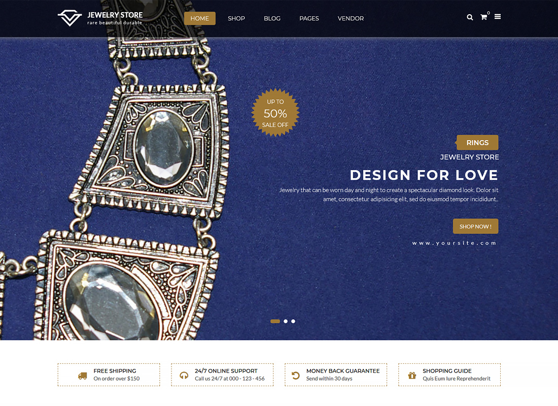 Karo - Handcrafted Jewelry and Diamond Responsive WooCommerce WordPress Theme