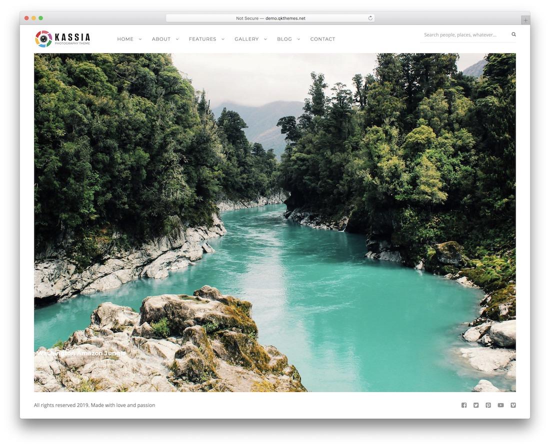 kassia wordpress theme for photographers