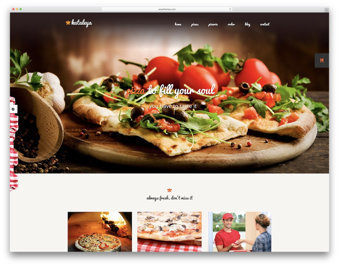 kataleya pizza house wordpress theme