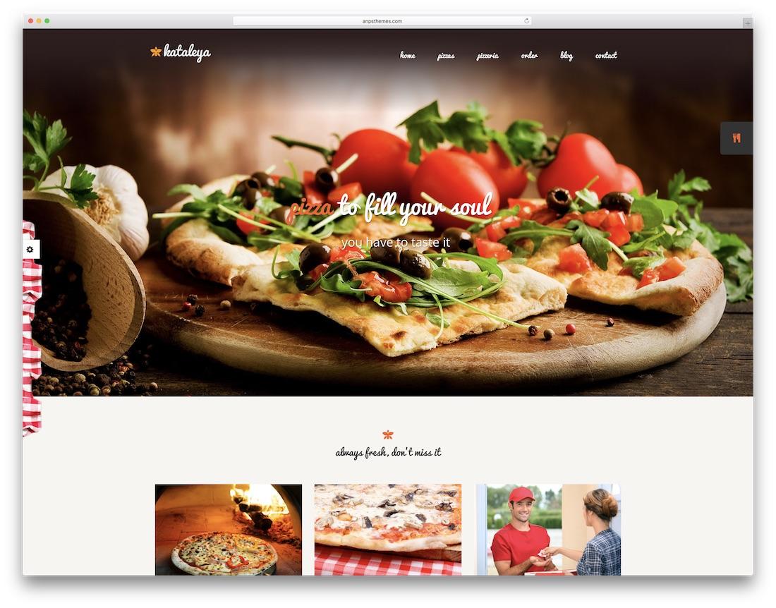 kataleya 피자 하우스 WordPress의 테마