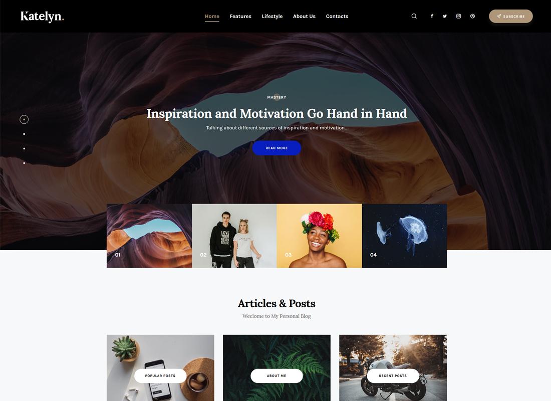 Katelyn - Gutenberg Blog WordPress Theme