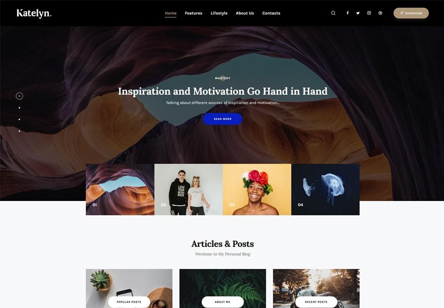Katelyn   Gutenberg Blog WordPress Theme