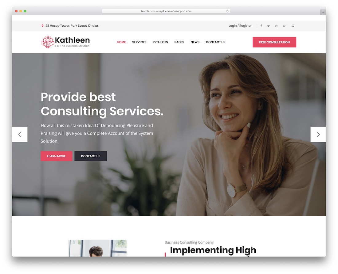 kathleen consulting website template
