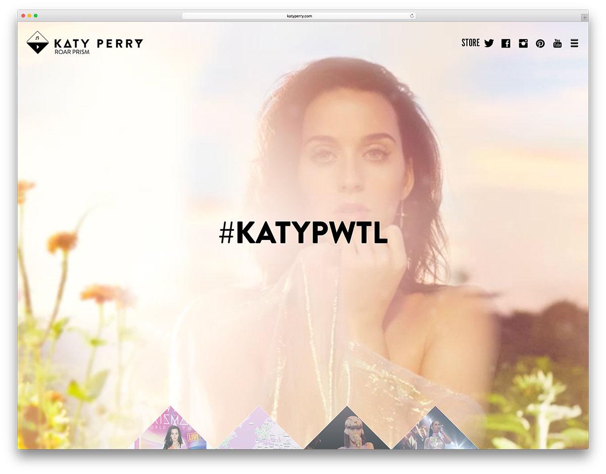 katyperry-artist-website-based-on-wordpress