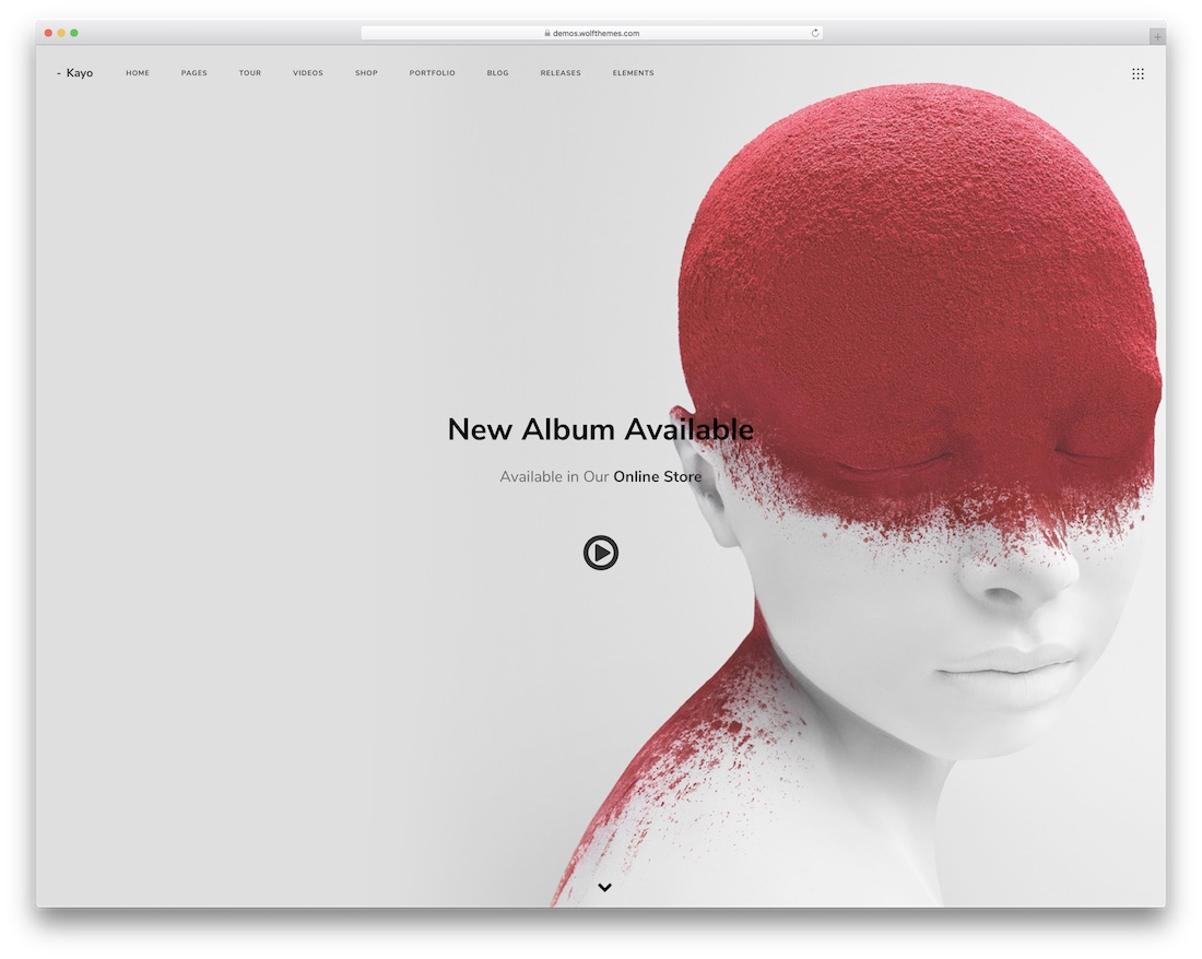 kayo music wordpress theme