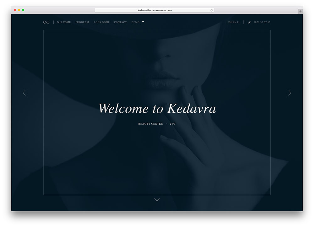 kedavra beauty salon theme