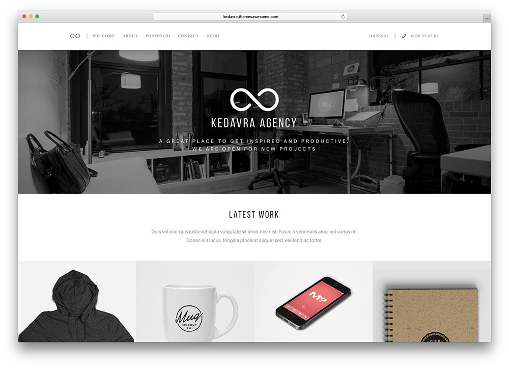 kedavra minimal WordPress theme