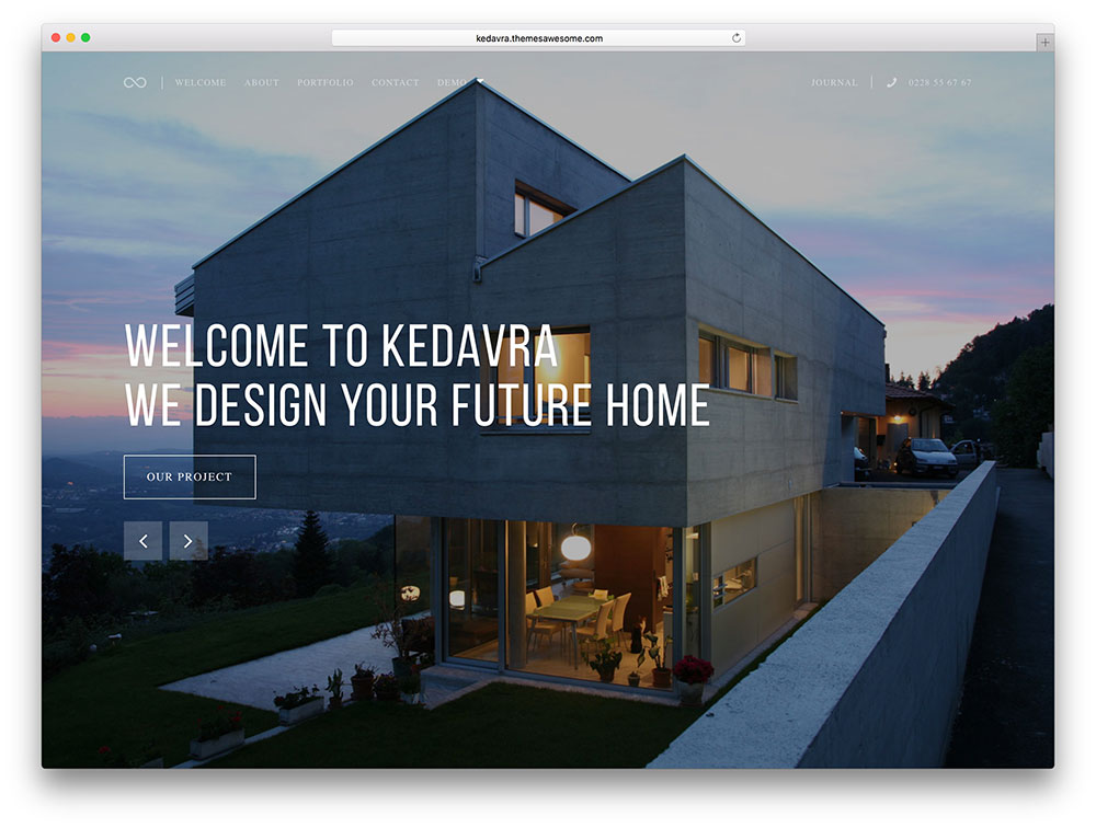 kedavra - fullscreen architec theme