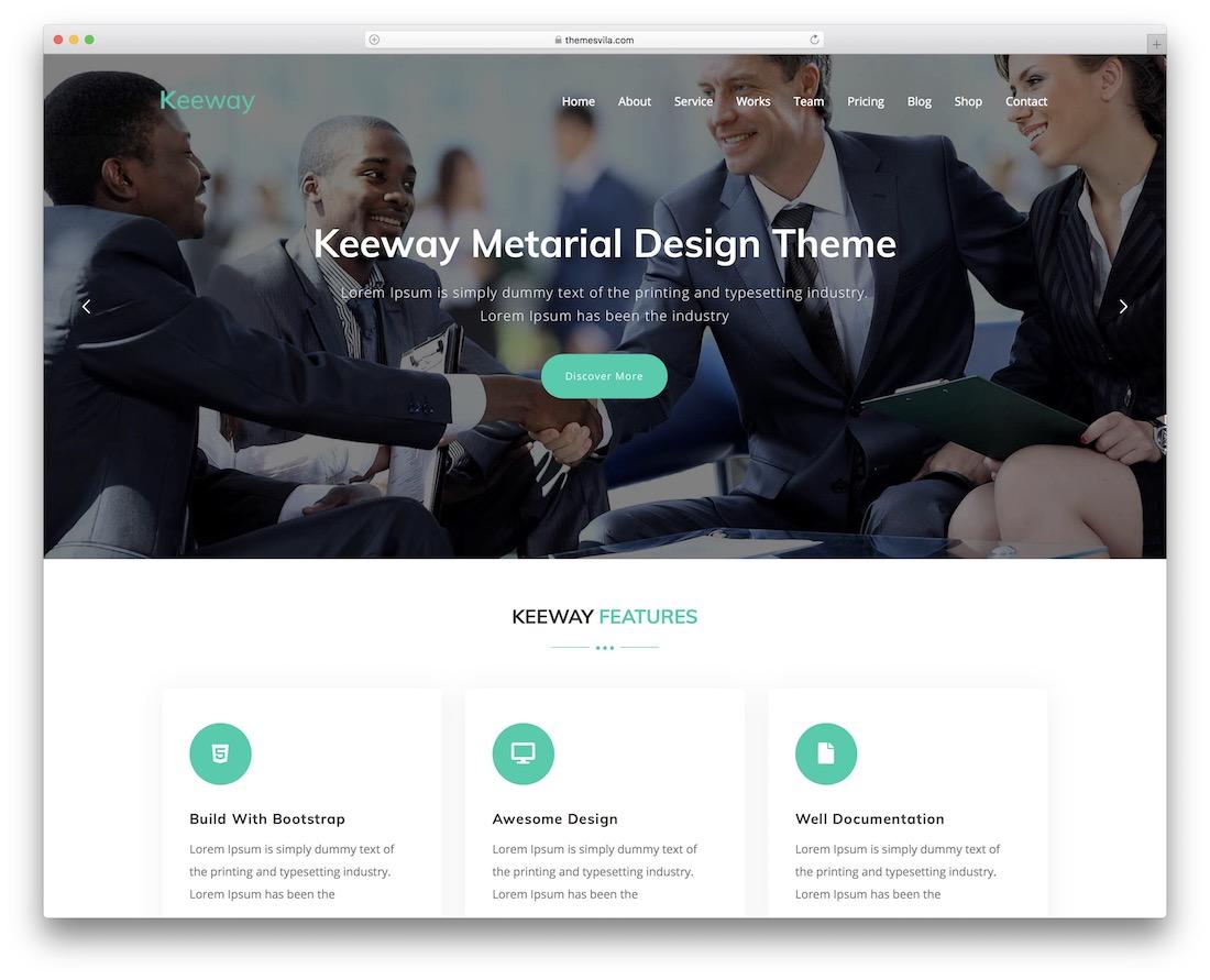 keeway wordpress material design theme