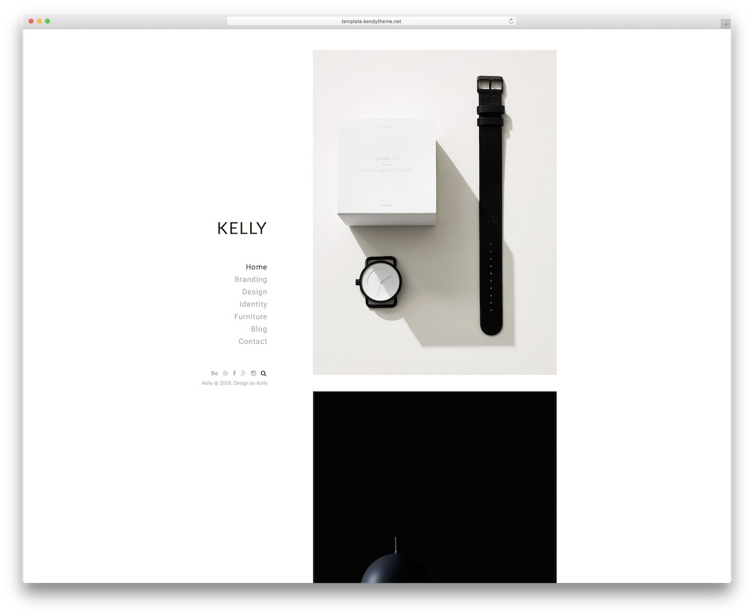 kelly minimal website template