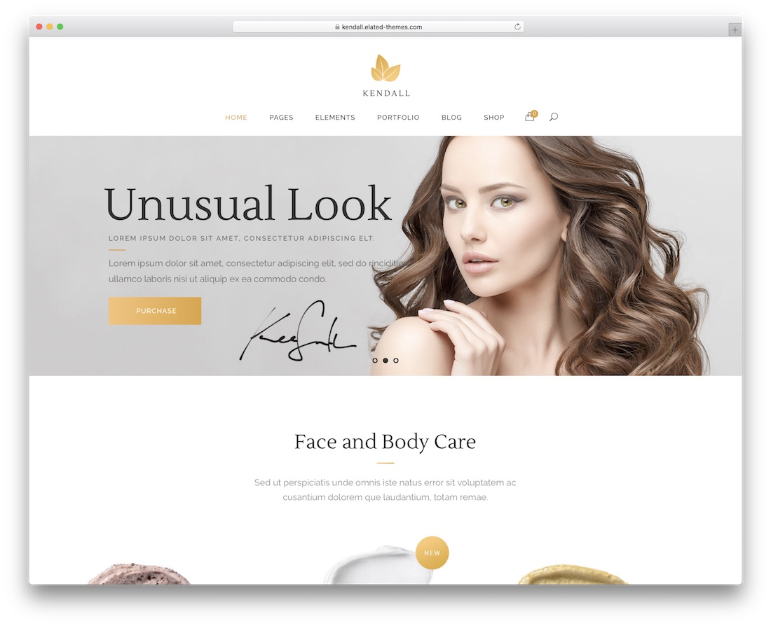 kendall spa salon wordpress theme
