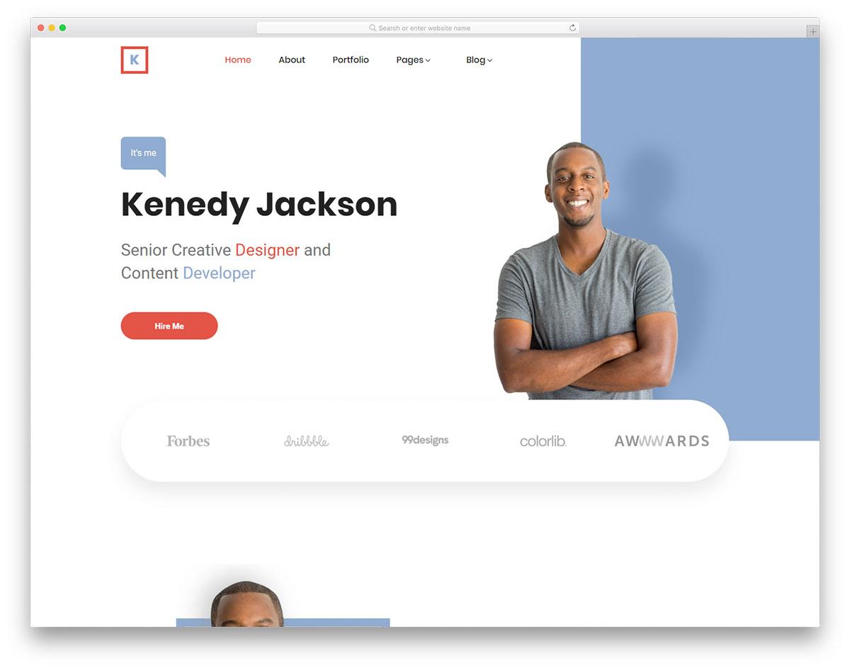 Скачать бесплатно html шаблон Kenedy