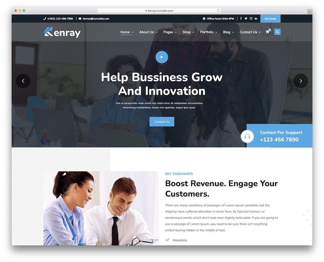 kenray accountant wordpress theme