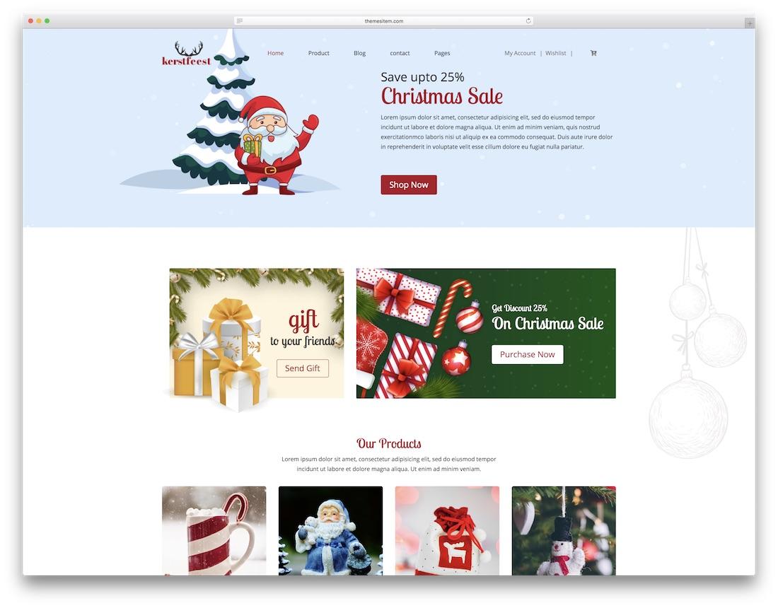 kersfeest cheap website template