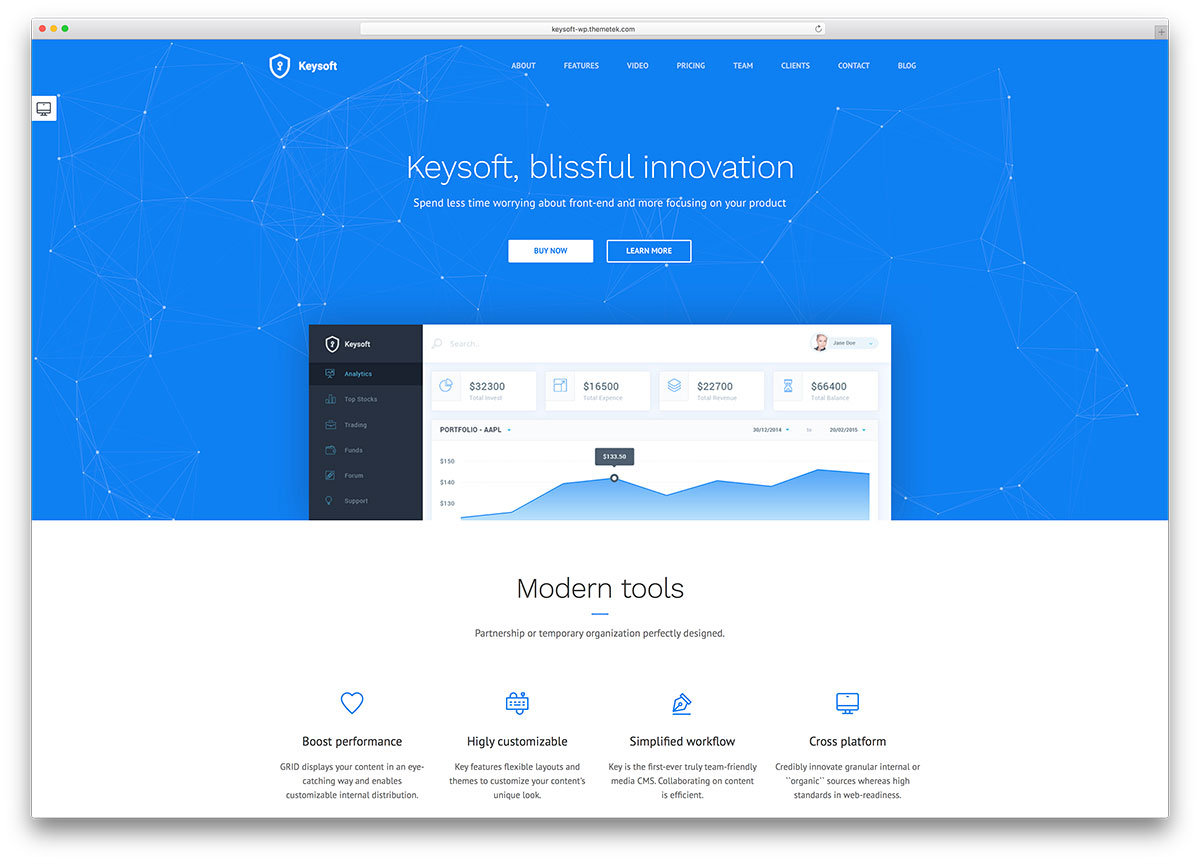 40 Best Wordpress Landing Pages Themes For Apps Products 2020