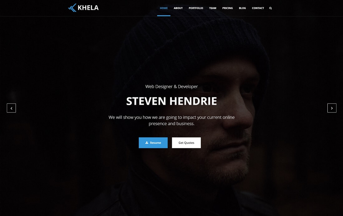 khela artist website template