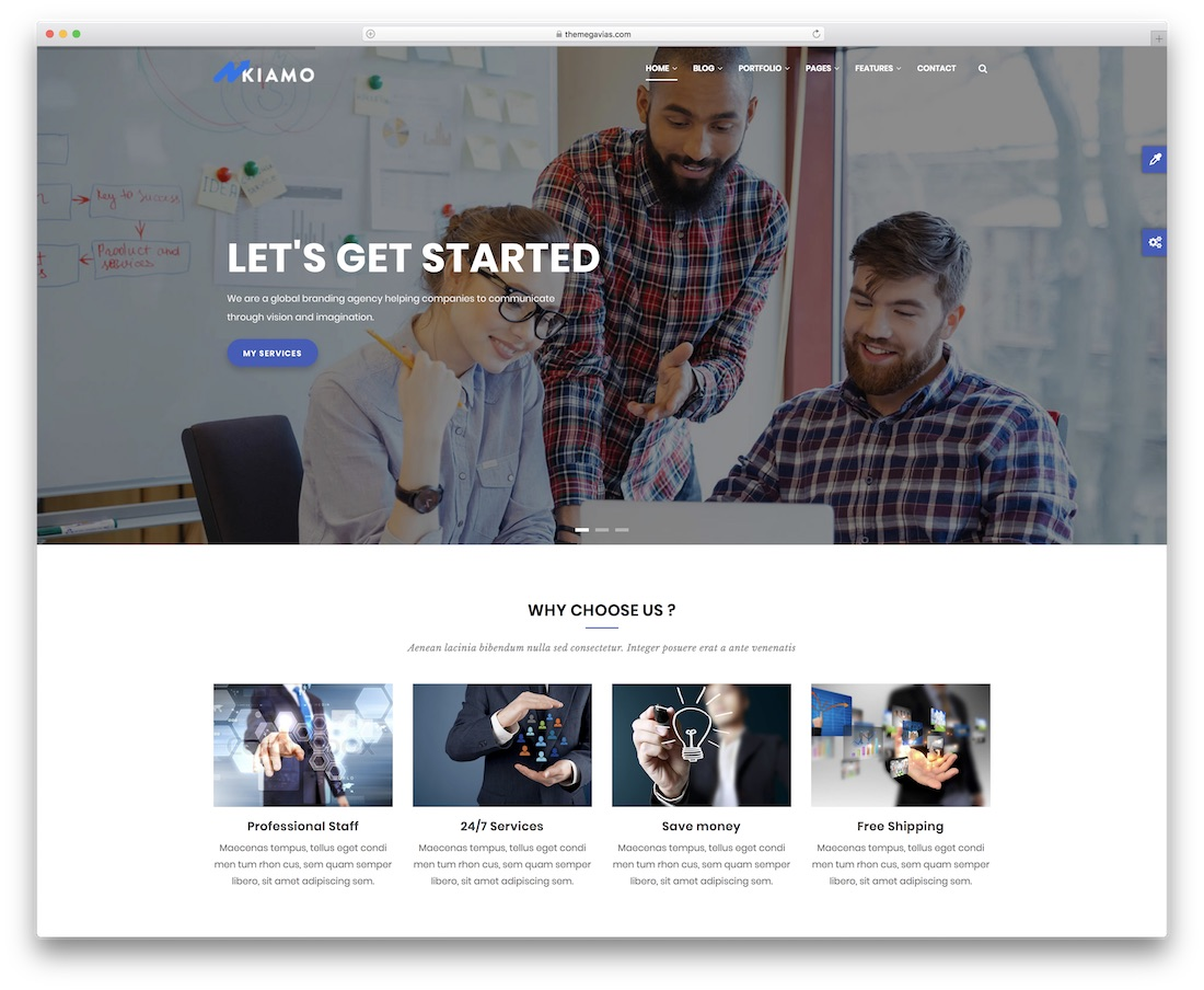 kiamo drupal business template