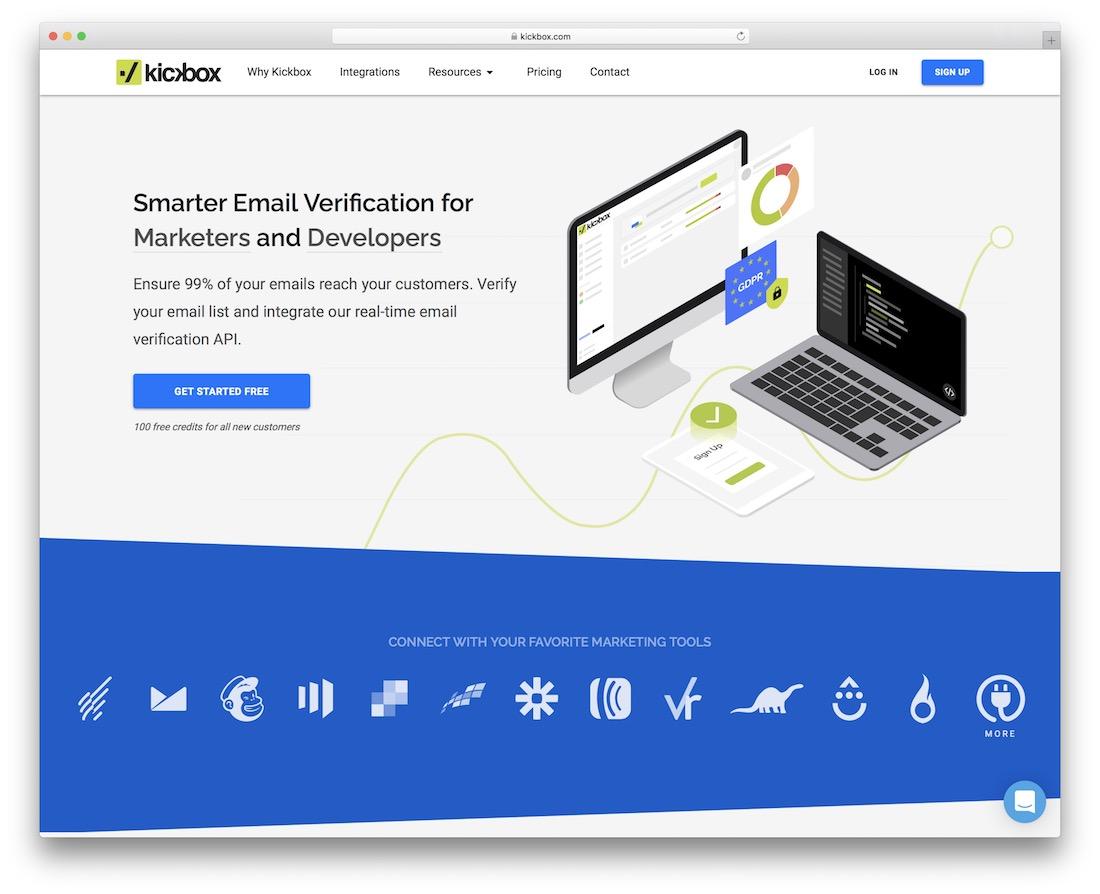 kickbox email platform for developers