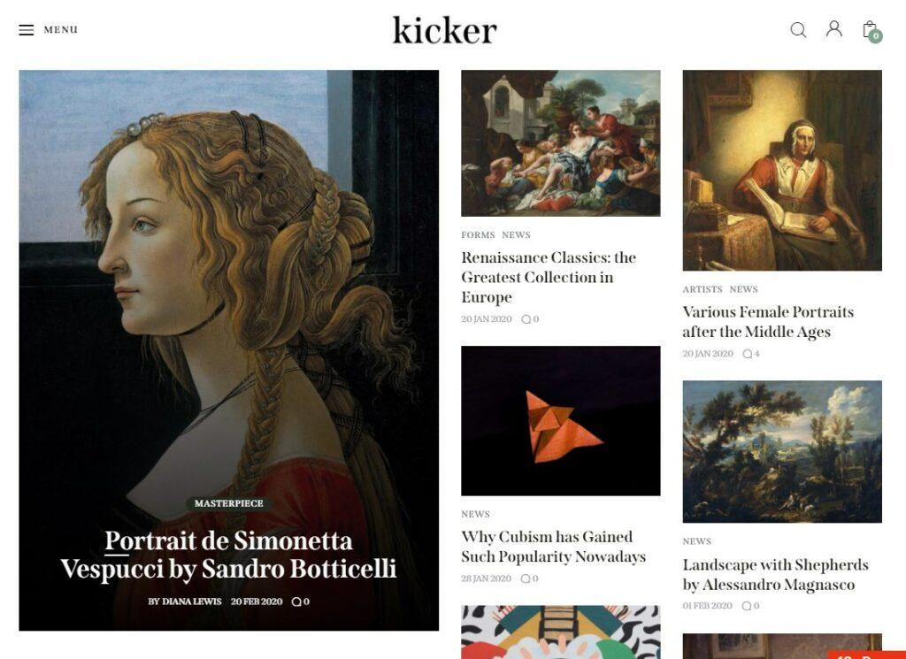 Kicker | Multipurpose Blog Magazine WordPress Theme