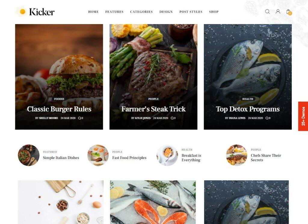 Kicker   Multipurpose Blog Magazine WordPress Theme