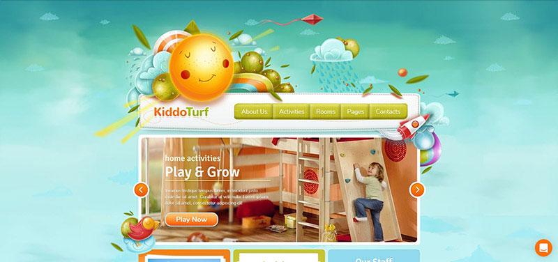 KiddoTurf - Kids WordPress Theme