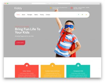 Kiddy Free Template
