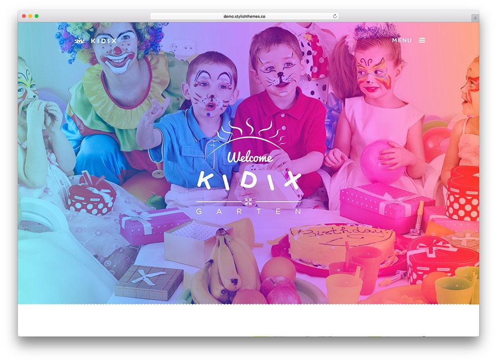 kidix-fullscreen-children-education-theme