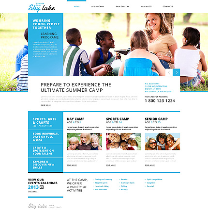 Happy Summer Camp WordPress Theme