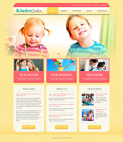 Kids Center Responsive WordPress Theme