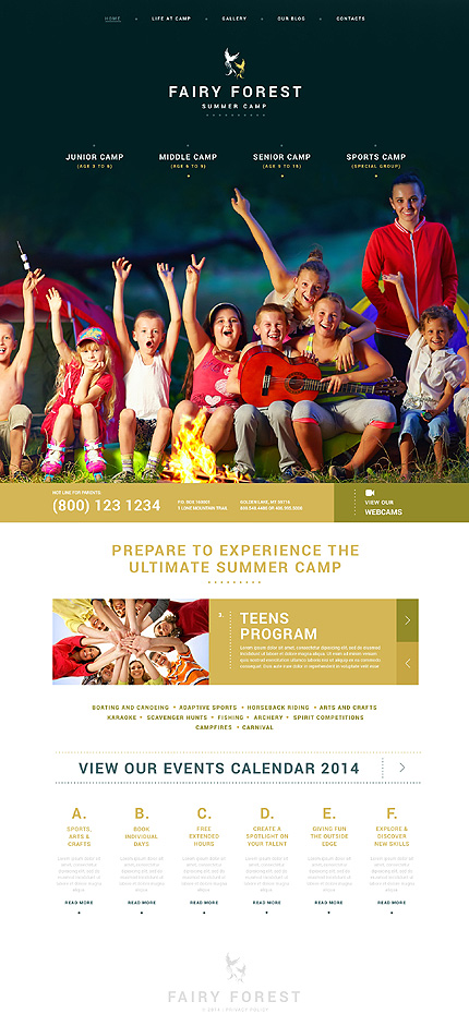 Kids Summer Camps WordPress Theme