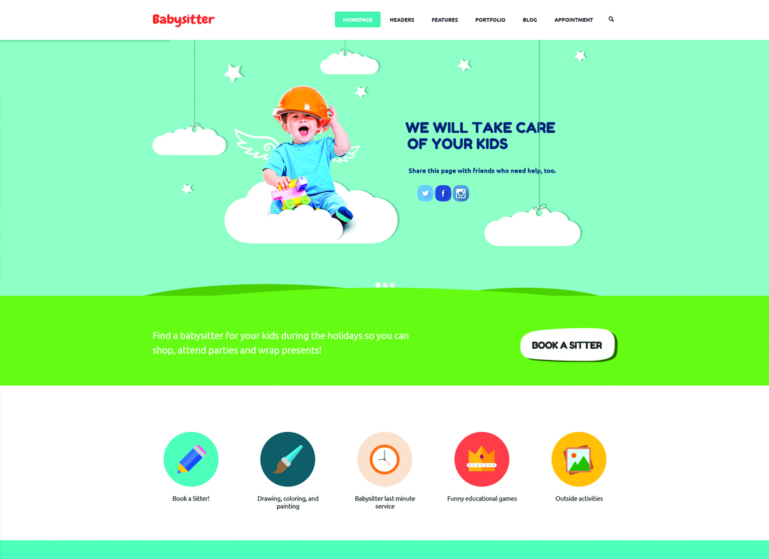Kids Care - A Multi-Purpose Children WordPress Theme