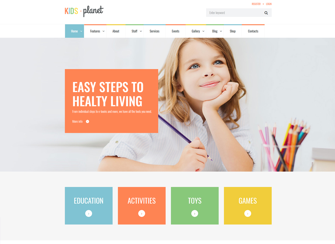 Kids Planet | A Multipurpose Children WordPress Theme