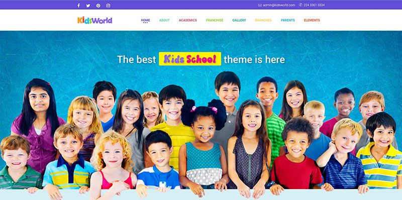 Kids World - Children, Kids WordPress Theme