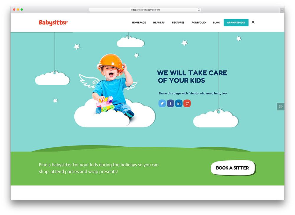 kidscare-babysitter-wordpress-theme