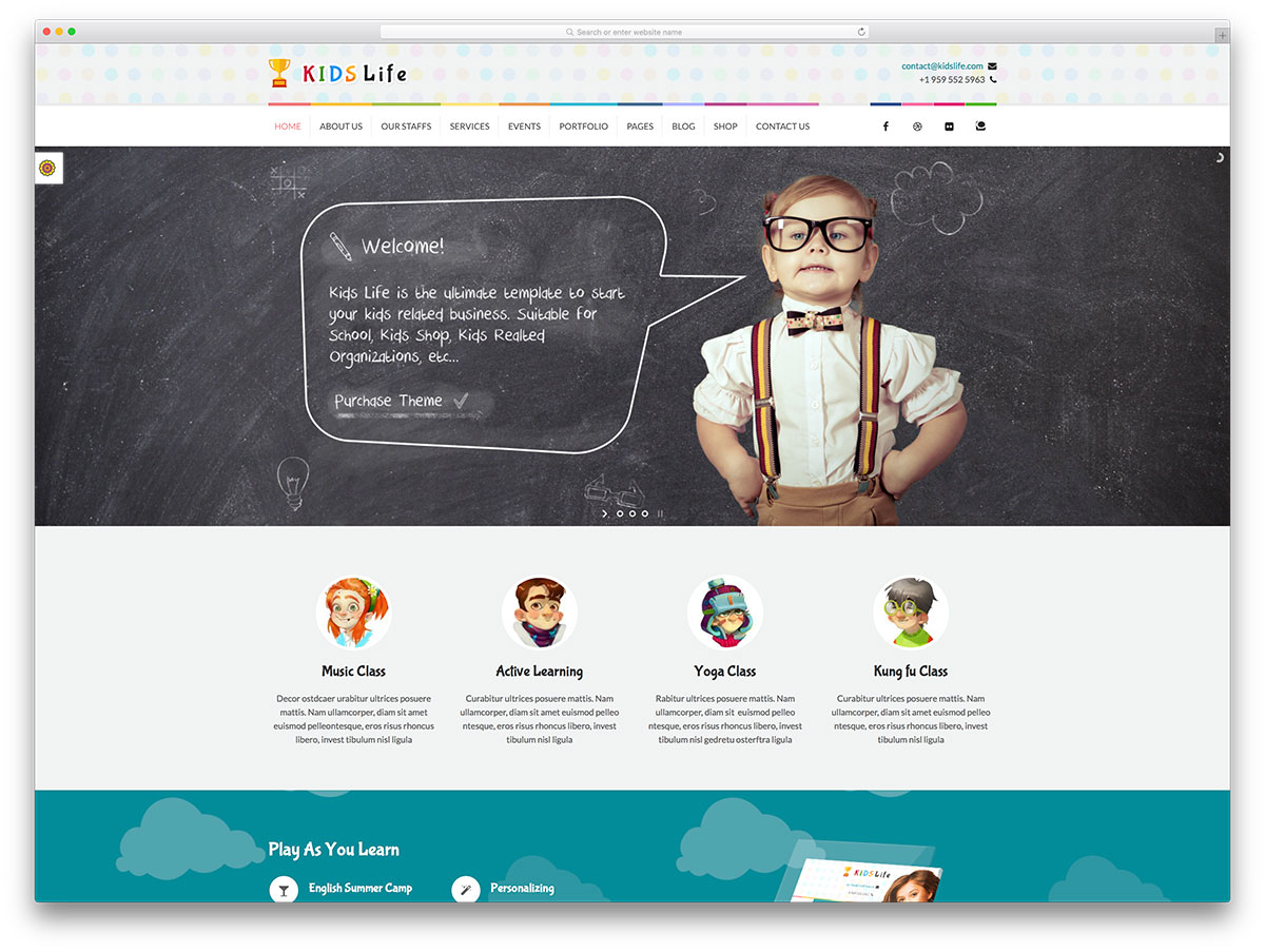 kidslife-creative-children-website-template