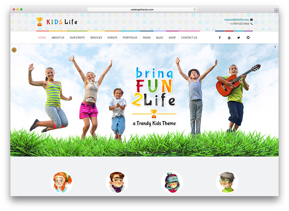 kidslife creative wordpress template - Art Templates For Kids