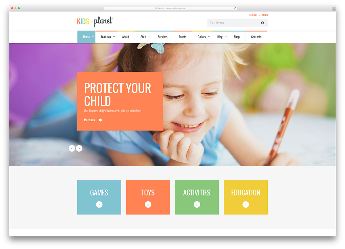 Free Kid Web Templates 2018