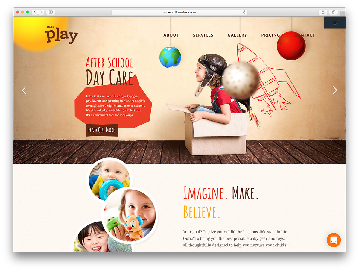 Kids Play Is WordPress Theme Fully Dedicated To The Little Ones In House It A Cheerful Set Up From Anything Related And Their Growing