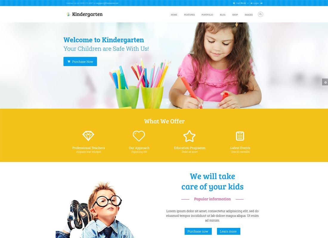 Kindergarten - Children HTML Theme