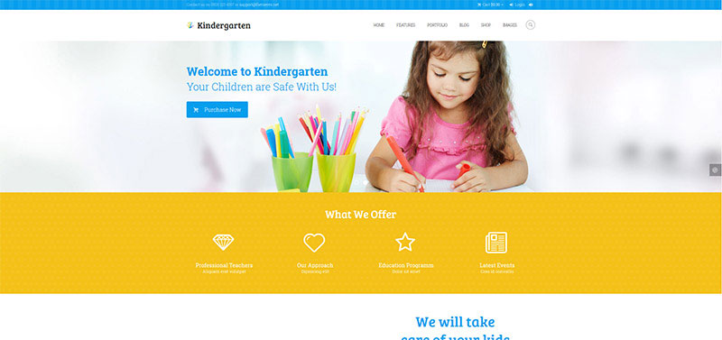 Premium Kids & Children WordPress Themes 2018 - Colorlib