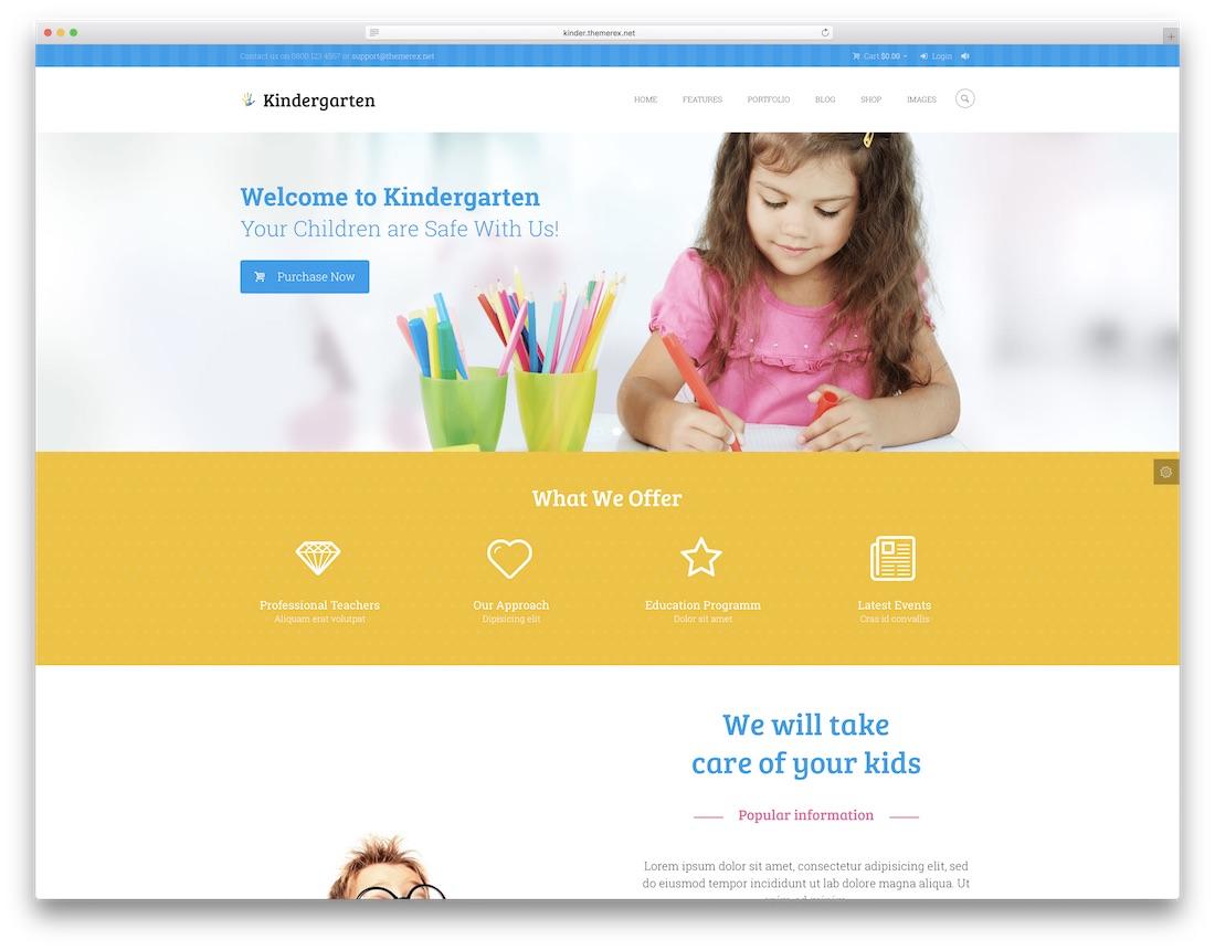 kindergarten cute wordpress theme