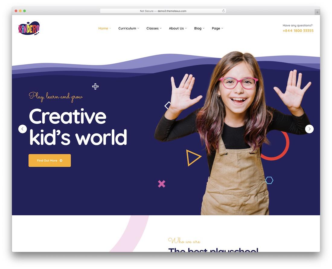 kindero kindergarten wordpress theme
