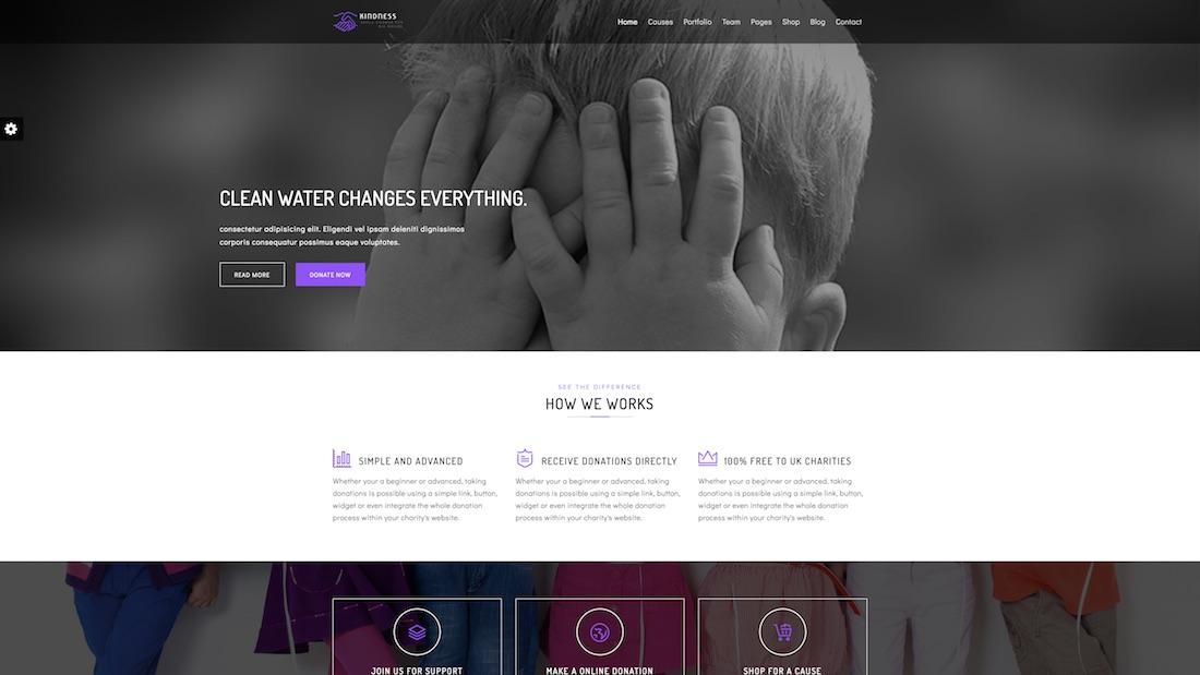 kindness website template